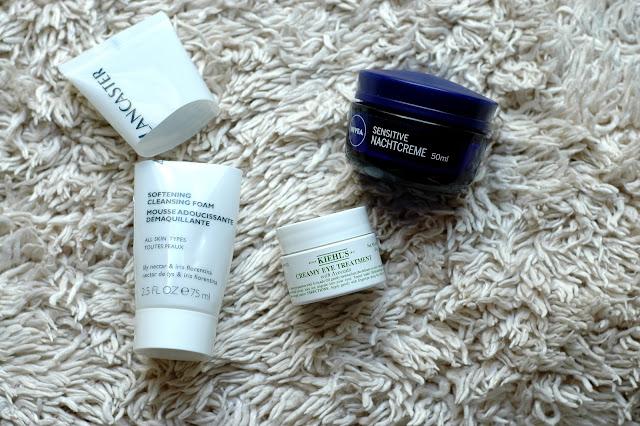 Aufgebraucht Kiehl's Creamy Eye Treatment und Nivea Sensitive Nachtpflege 2015