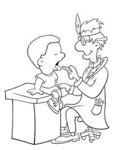BAÚL DE COLOREAR: Profesiones: Dentista