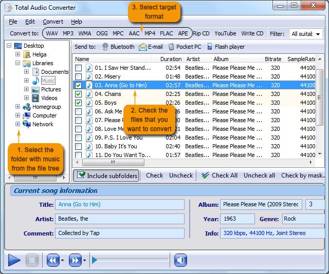 تحميل برنامج Total Audio Converter لتحويل جميع صيغ الصوت المعروفة 5.2.70