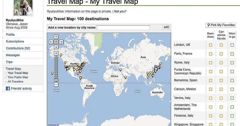 Ryukyu Life My Trip Advisor Travel Map Needs 100 More Places – Map My Trip