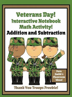 http://www.fernsmithsclassroomideas.com/2013/11/ferns-freebie-friday-thank-you-troops.html
