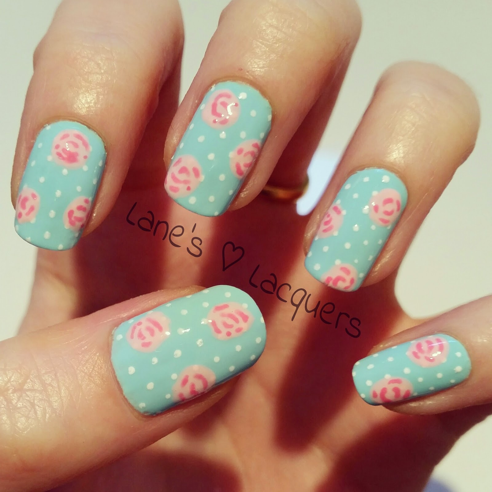 Nail Arts By Rozemist Cath Kidston Vintage Inspired: Lane's Lacquers: Mani Swap: My Mint Nails