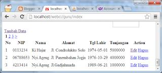 Membuat Halaman Paging untuk Menampilkan Data pada CodeIgniter