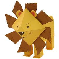 Divertido León 3D para Imprimir Gratis.
