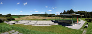 Villa rustica Leutstetten - Panoramabild aus fünf Einzelbildern