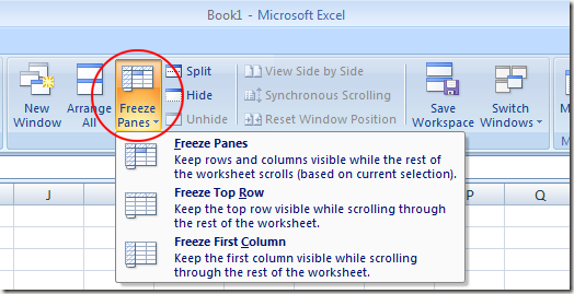 How to freeze panes for wide spreadsheets in ms excel excel freeze panes ccuart Images