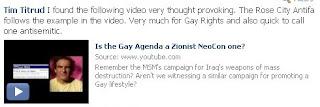 Tim Titrud gay zionist agenda