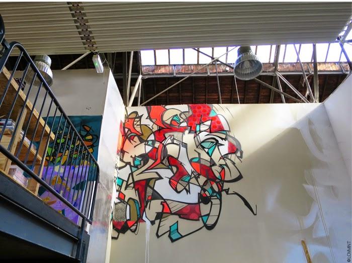 graffiti et atelier de Cédric Lascours - Reso