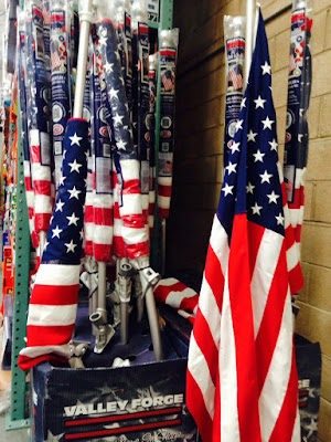 Valley Forge 6 American Flag Kit includes flag, pole, and mount