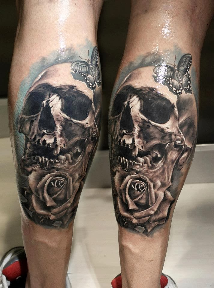 leg skull tattoo designs health life styles. Black Bedroom Furniture Sets. Home Design Ideas