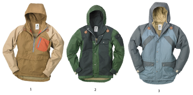 Sierra Designs is currently holding a post-holiday sale!  Some pretty wicked sale drops and great styles.  I picked out my three favorite pieces of outerwear, what do you think?  Leaning towards the Ranger Jacket (center)...   1. Alpine Pullover  2. Ranger Jacket  3. Patrol Parka