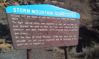 Storm Mountain Tourist Sign