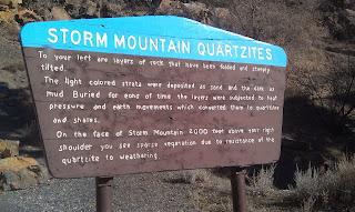 Storm Mountain Tourist Sign