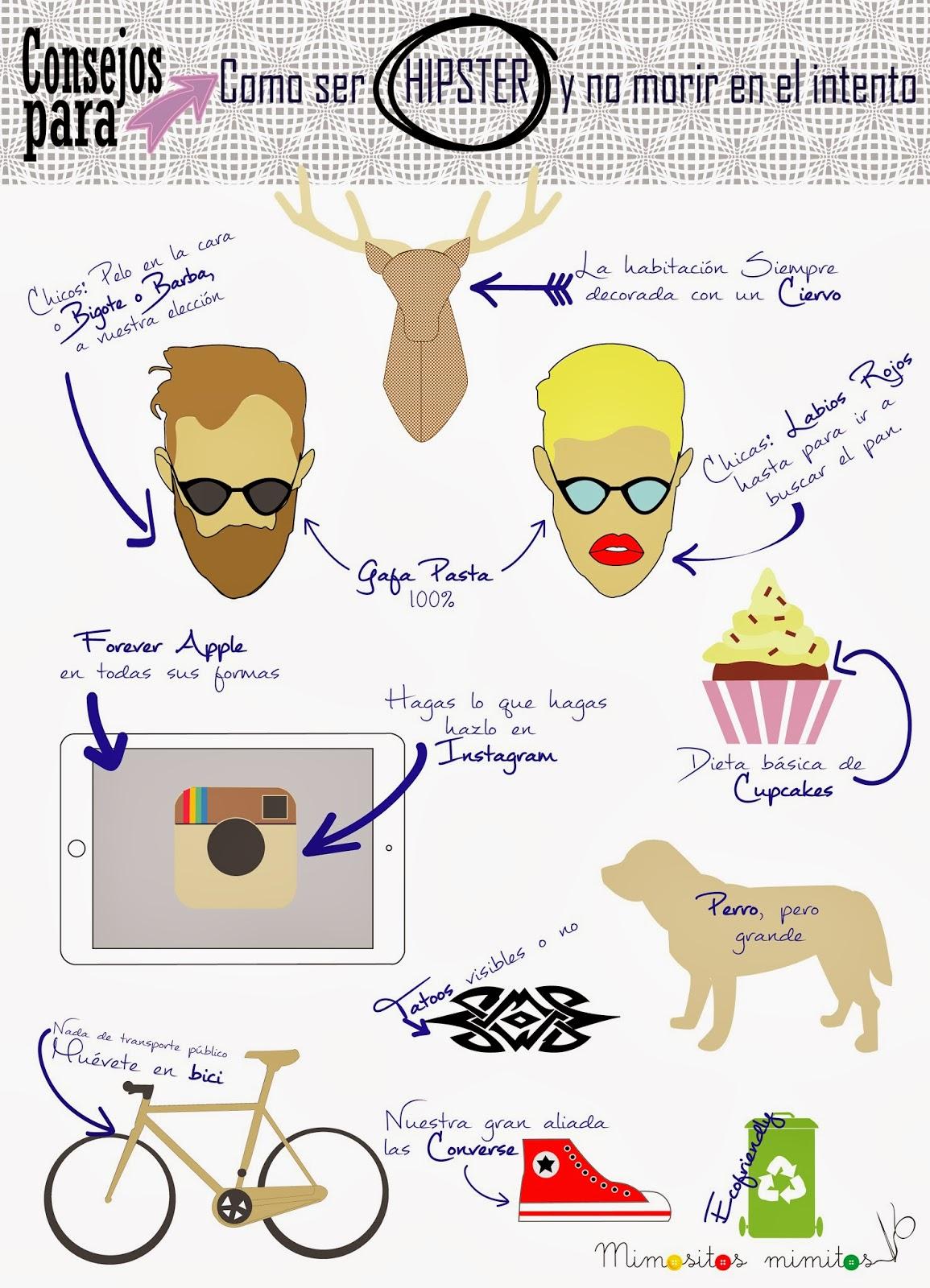 como ser hipster y no morir en el intento infografia