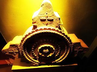 Lápide de arenito no Museu de La Cruz, na Argentina.