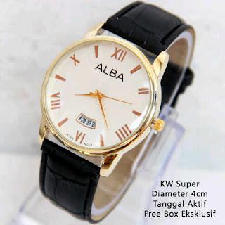 harga jam tangan kw super cowok alba man sl26 100 ribuan