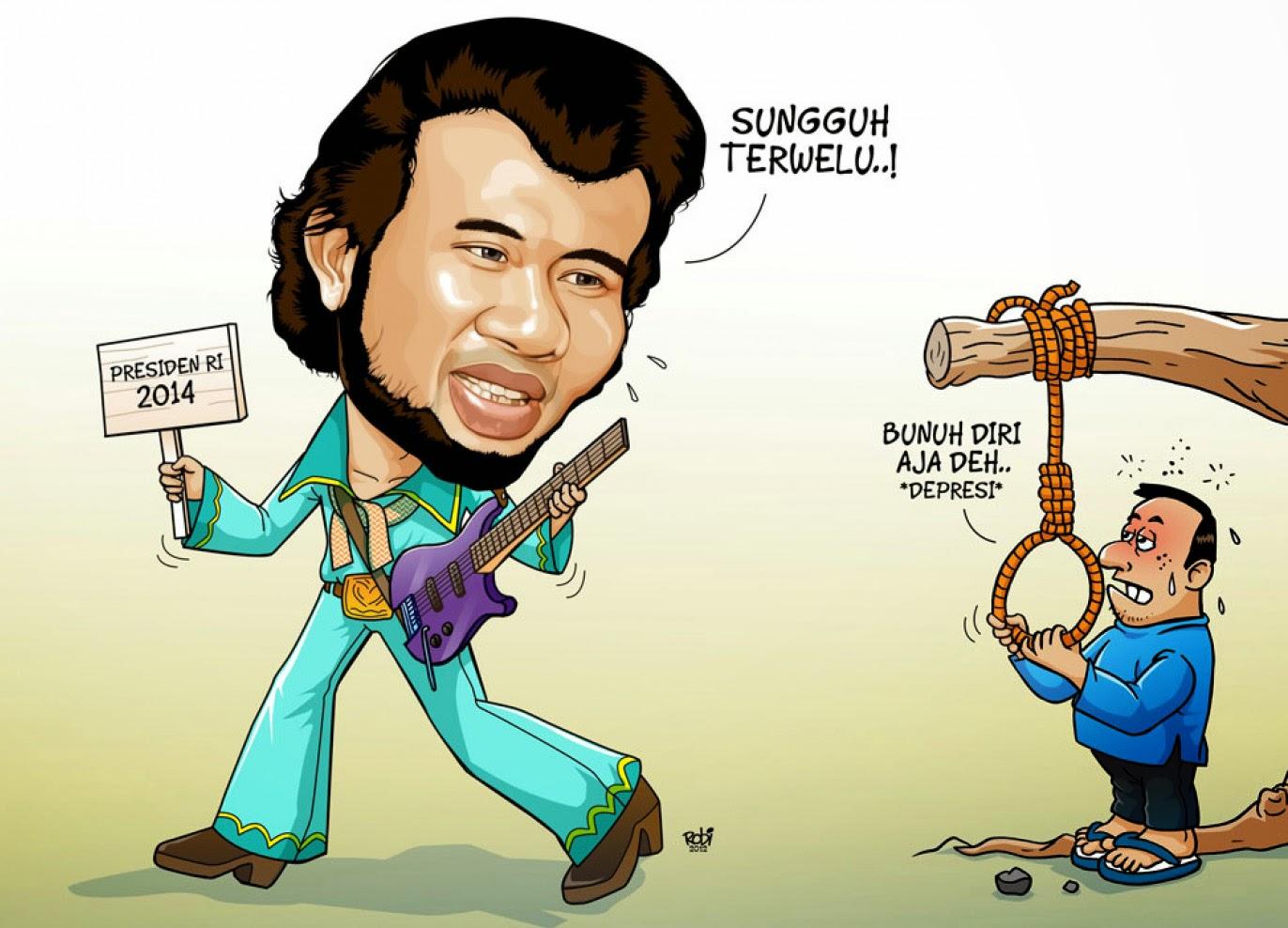 Gambar Karikatur Lucu Rhoma Irama Kartun Politik