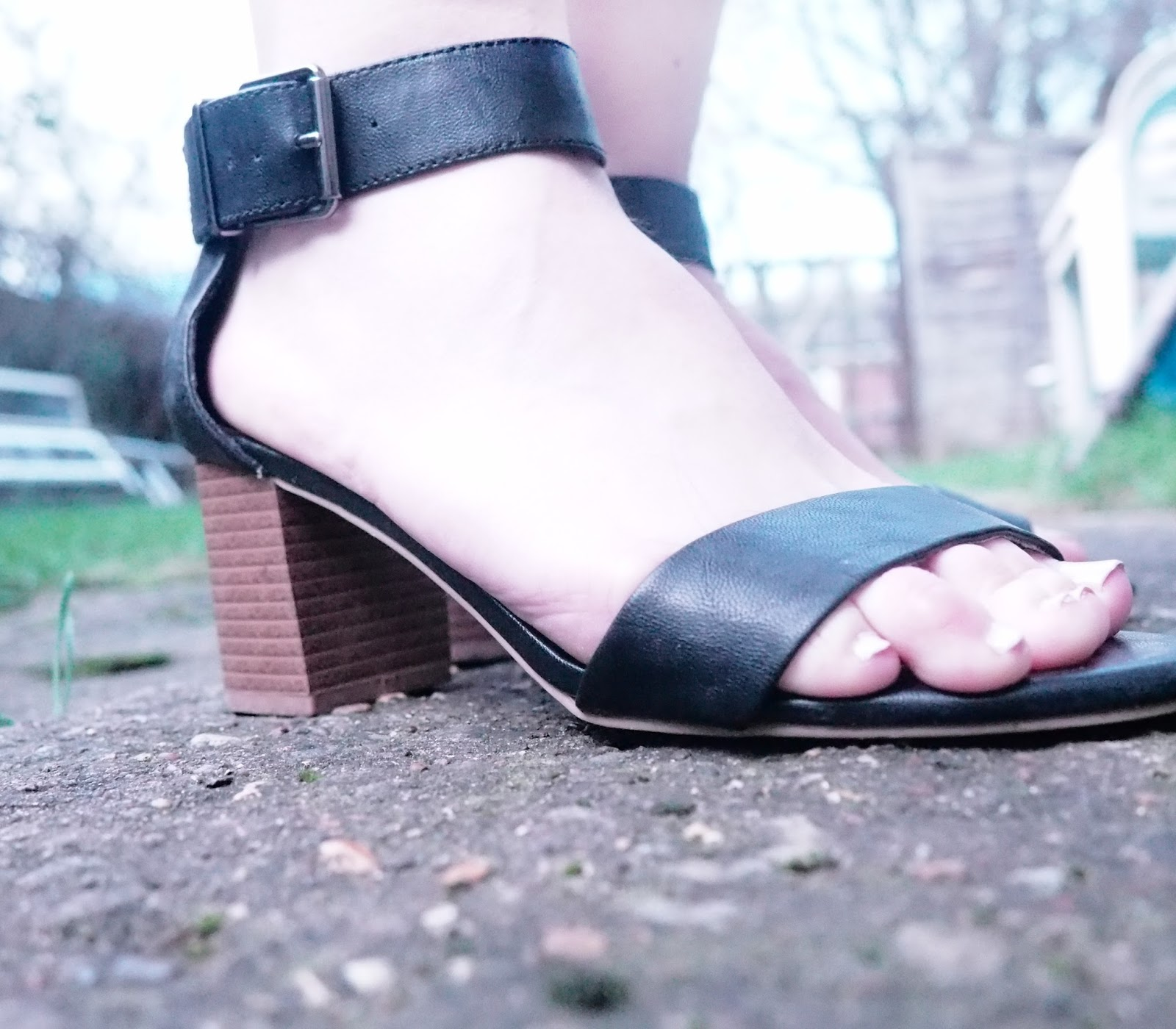 New Look Black Block Heel Sandals