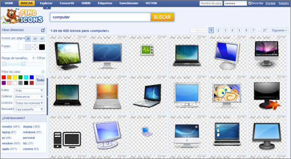 Encuentra todos los iconos que quieras en Find Icons