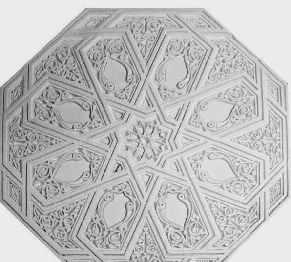 Salons du maroc et d coration orientale faux plafond tr s for Rosace plafond platre