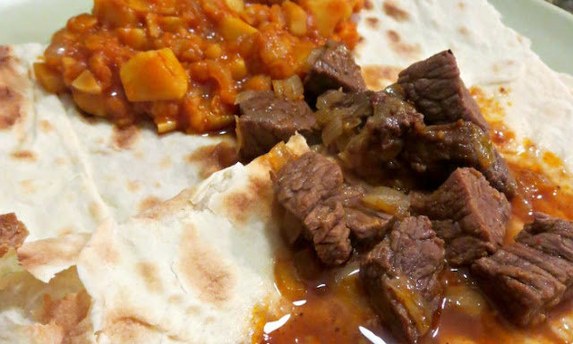 Ethiopian Spicy Beef and Red Lentils Dinner