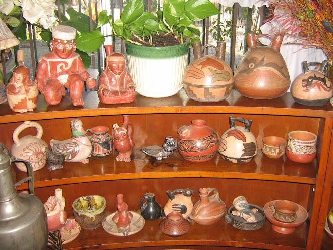 ceramicas realizadas por Raul Valdes en Taller Pachacamac