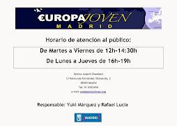 Horarios 2014 en Europa Joven Madrid