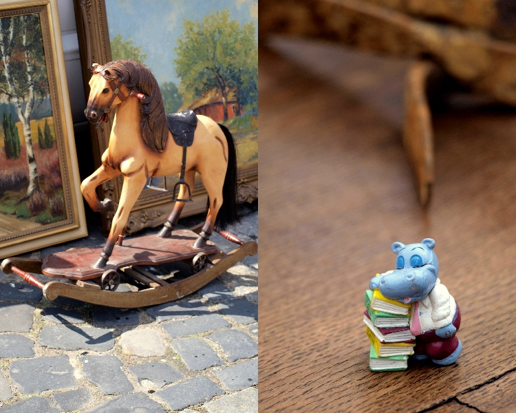 rocking horse & sleepy hippo {photo walk: fleamarket finds II by momentstolivefor}
