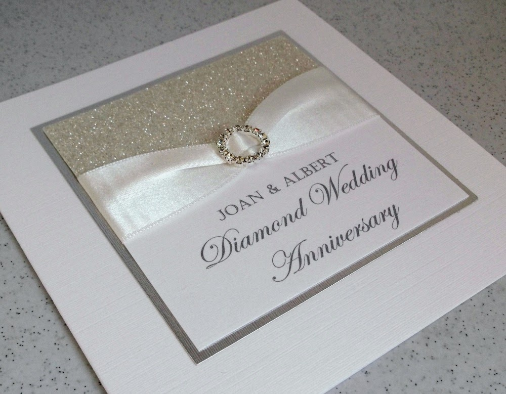 Diamond Wedding Anniversary Invitations