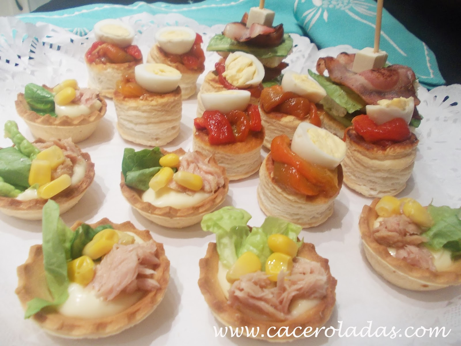 Canapes variados caceroladas for Canapes faciles y economicos