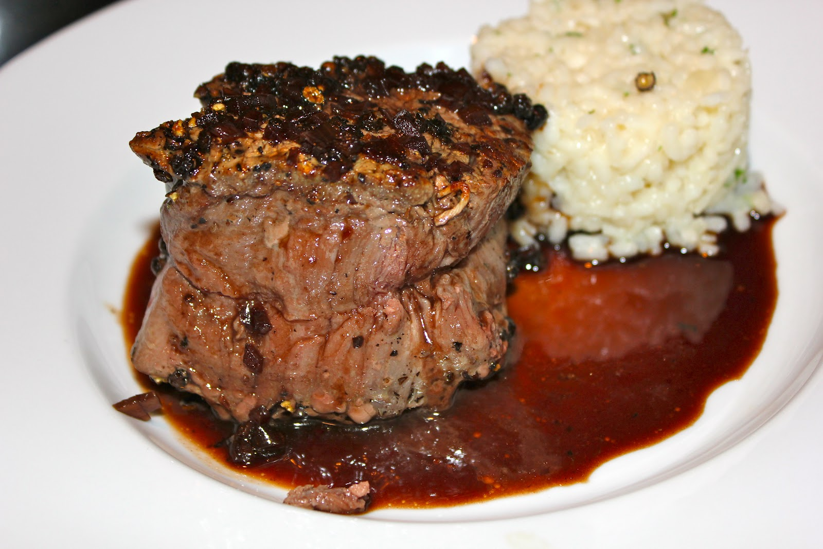 Mark in the Kitchen: Pepper Crusted Filet Mignon