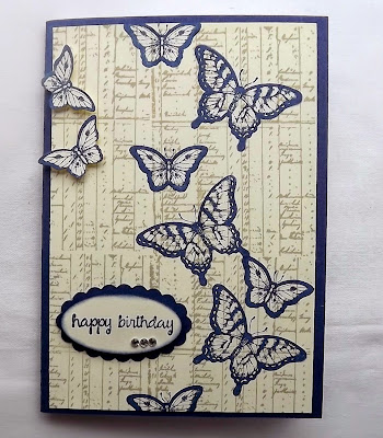 Stampin Up! Papillon Potpourri, large oval punch
