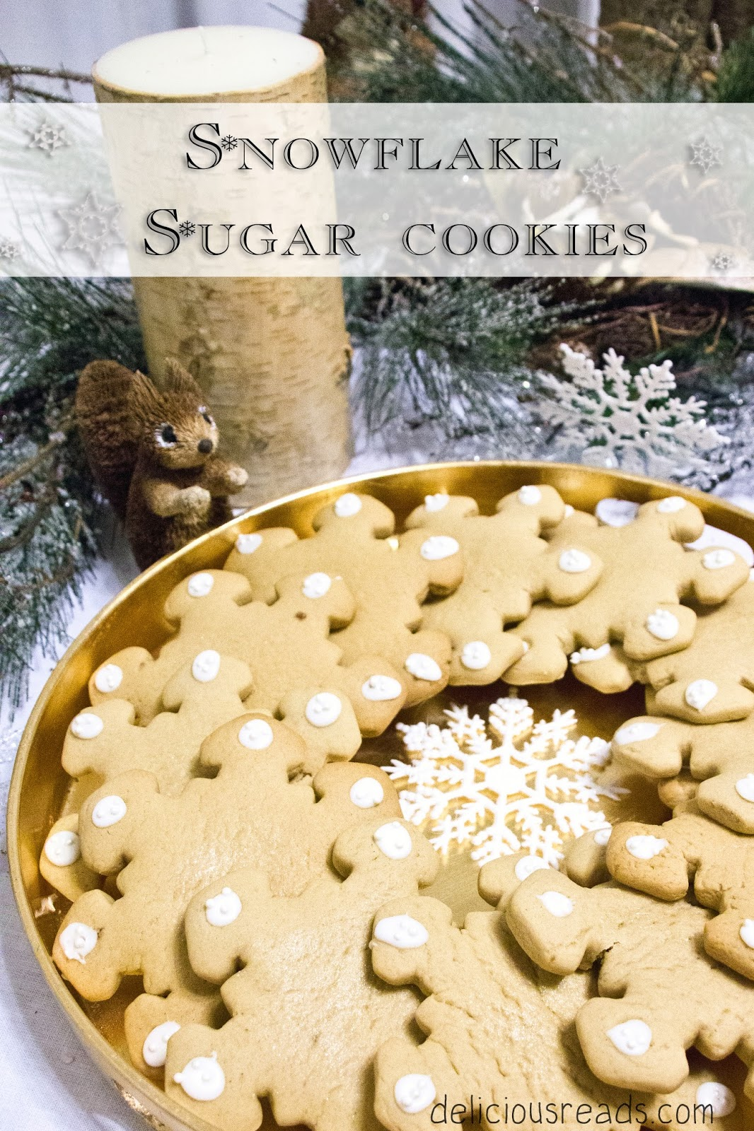 Snowflake cookies from The Snow Child
