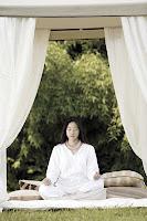 Yoga and Meditation Girl+meditating+outside