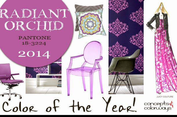 Pantone Radiant Orchid, Color of the Year 2014