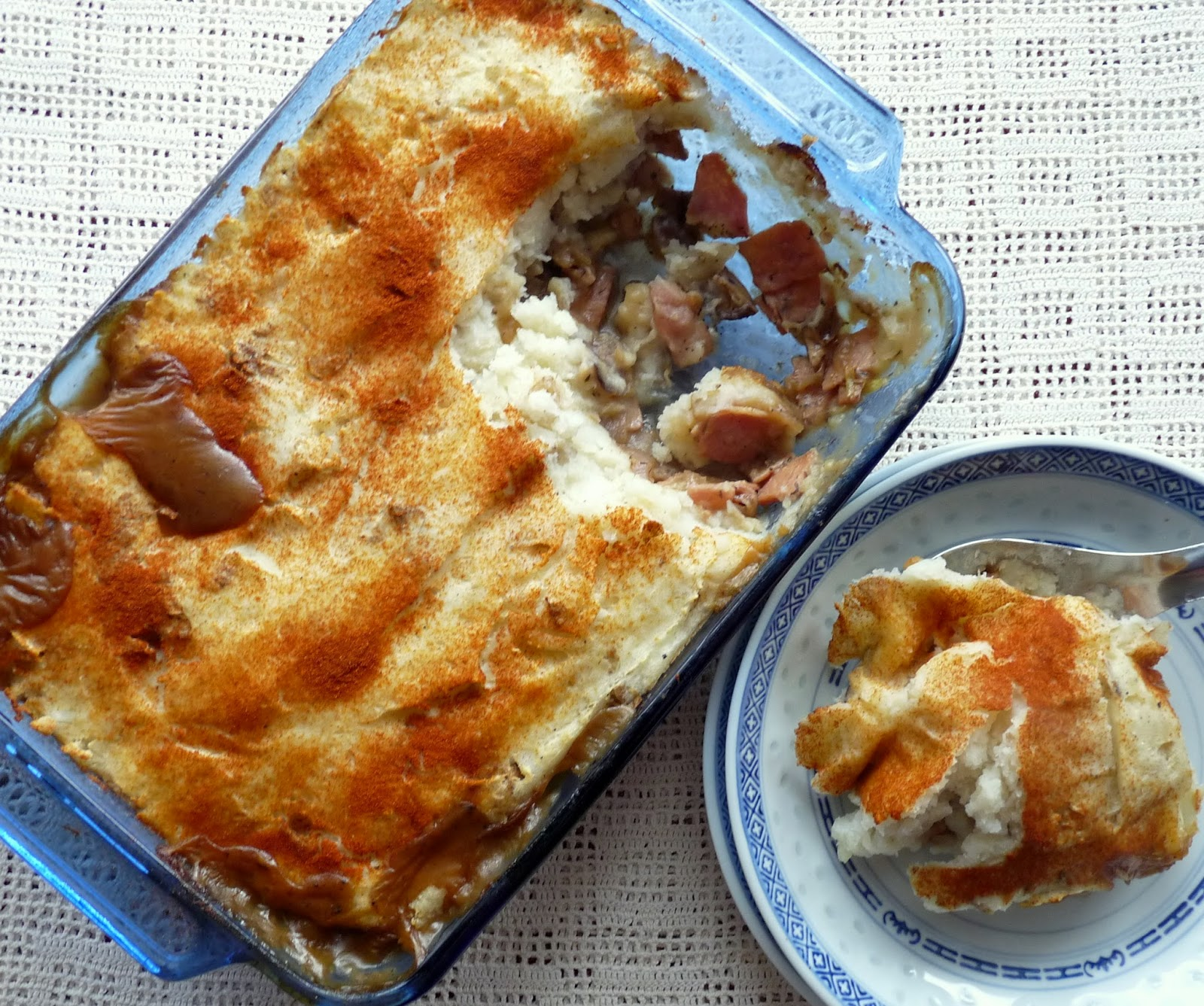 Cottage Pie with Bacon, Mushrooms & Onions