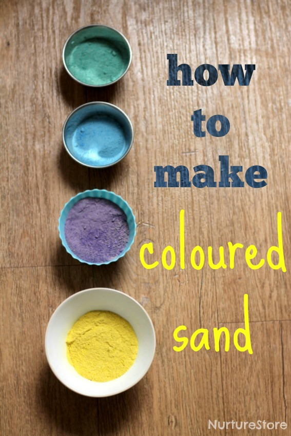 How to make colored sand for sensory play