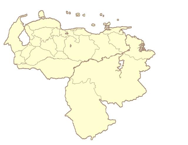 dibujo del mapa de venezuela