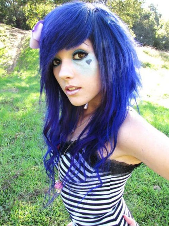 Cute purple haired babe in tiny panties - 3 part 4