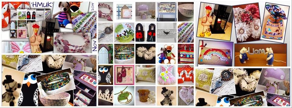 Collage of pictures of handmade goods