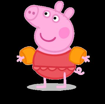 Cartoon characters peppa pig png pictures for Pepa en la piscina