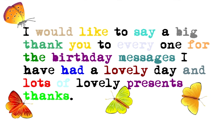 Birthday Thank You Quotes!