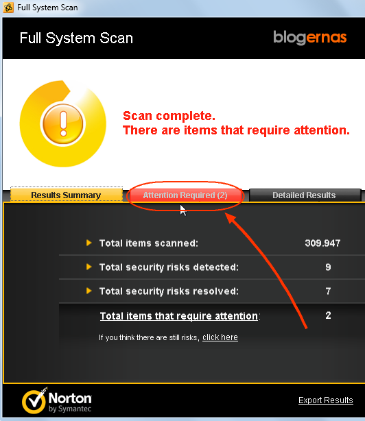 Cara Scan Virus dengan Norton AntiVirus 2012 (Full Gambar Tutorial)