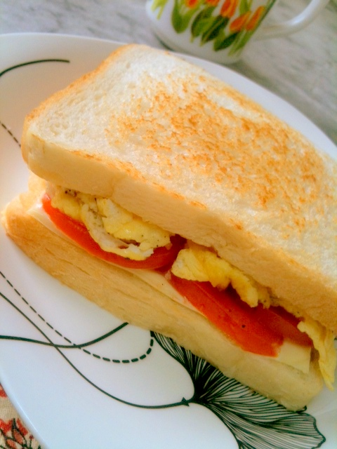My Spicy Taste Buds: Cheesy Egg & Tomato Sandwich