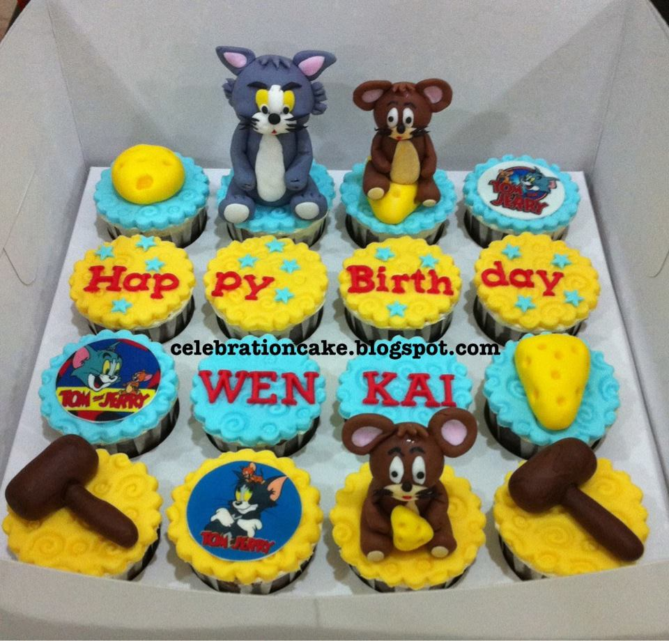 Celebration Cake Tom Jerry Cupcakes