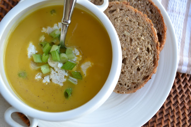 paper{whites} // glammed up creamy butternut squash soup from the box