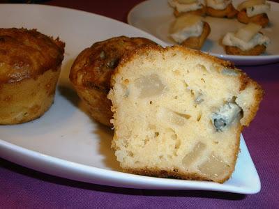 voglia di sole!!! muffin pere e gorgonzola per un goloso antipasto!