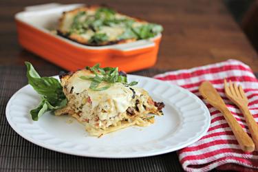 ... : {Special Announcement} & Creamy White Chicken & Artichoke Lasagna