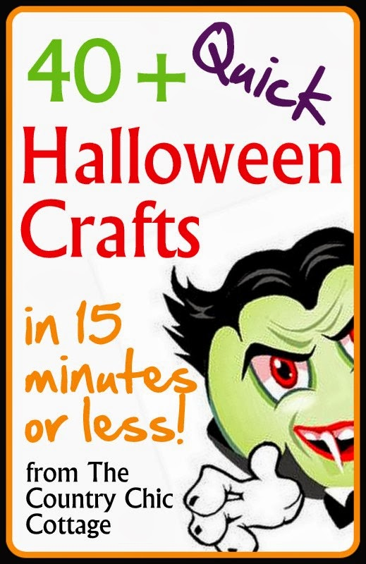 quick halloween crafts over 40 ideas under 15 minutes the country chic cottage - Halloween Crafts To Do At Home