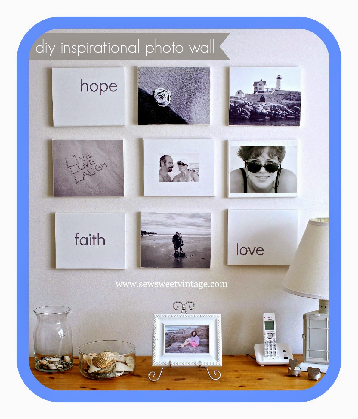 how to make a photo word wall